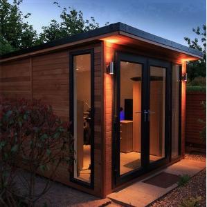 western red cedar cladding shed