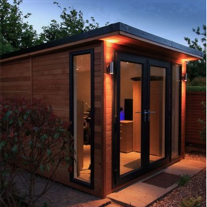 western red cedar cladding shed