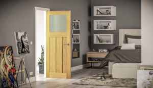glazed internal oak door longridge timber deanta