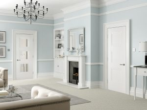 Amsterdam White Internal Door - Classic living room - Longridge Timber
