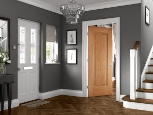 Eindhoven 1P Oak Hallway Internal Door Longridge Timber