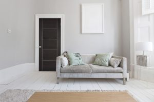 Living Room Internal Door Laminate Dark Grey