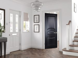 Versailles 2P Black Hallway Interior Door Longridge Timber