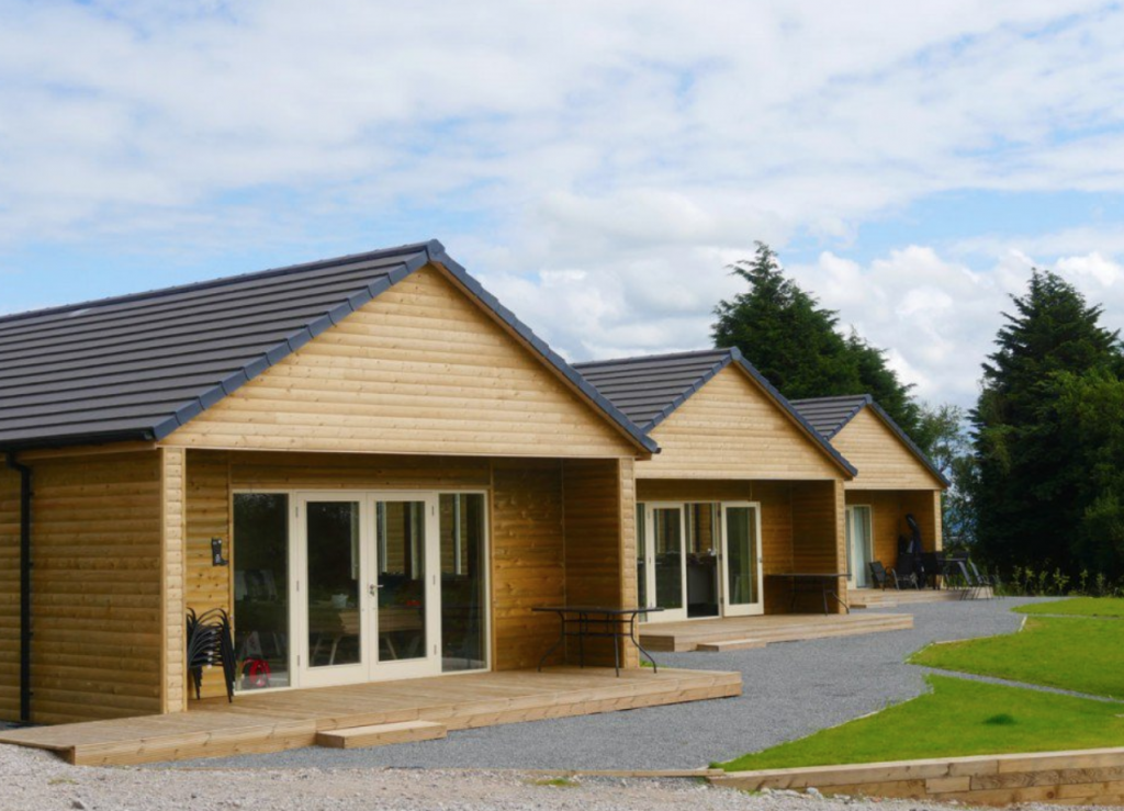 Loglap Cladding used for Lodges in Lancashire Longridge Timber